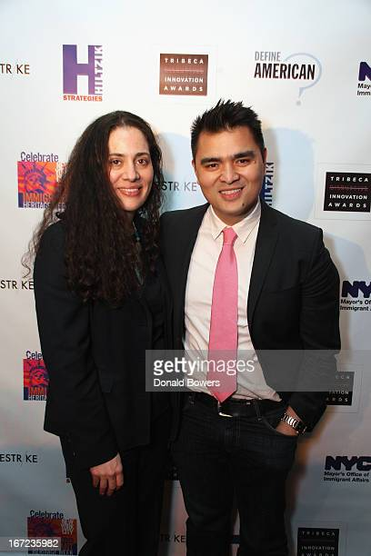 Fatima Shama and Jose Antonio Vargas attend #UndocumentedNYC CoHosted By Jose Antonio Vargas Define American The Mayor's Office Of Immigrant Affairs...