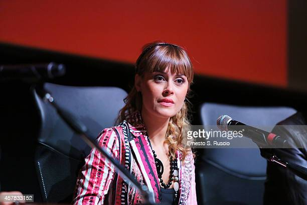 Fatima Trotta attends the 'Andiamo A Quel Paese' Press Conference during the 9th Rome Film Festival on October 25 2014 in Rome Italy