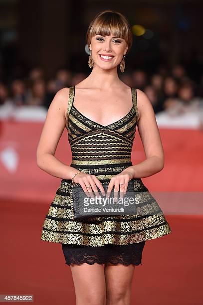 Fatima Trotta attends the 'Andiamo A Quel Paese' red carpet during the 9th Rome Film Festival at Auditorium Parco Della Musica on October 25, 2014 in...