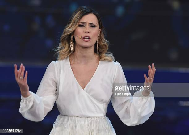 Fatima Trotta attends the Made In Sud TV Show on March 4 2019 in Naples Italy