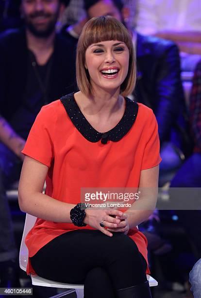 Fatima Trotta attends the 'Quelli Che Il Calcio' TV show on December 7 2014 in Milan Italy