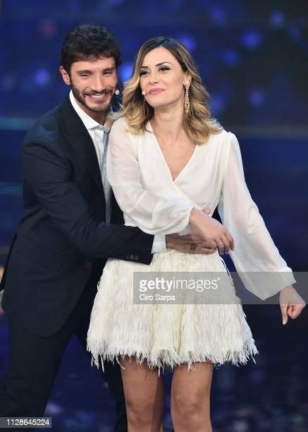 Fatima Trotta Stefano De Martino attends the Made In Sud TV Show on March 4 2019 in Naples Italy