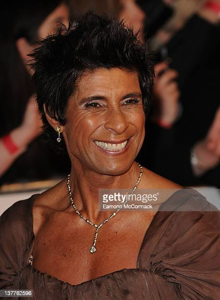Fatima Whitbread arrives at National Television Awards at O2 Arena on January 25 2012 in London England