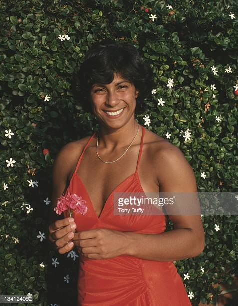 Fatima Whitbread of Great Britain poses for a portrait during training on 1st November 1979 in Limassol Cyprus