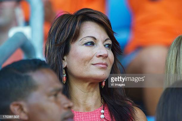 Fatima wife of coach Cor Pot of Holland U21 during the UEFA U21 Championship match between Spain U21 and Netherlands U21 on June 12 2013 at the Ha...