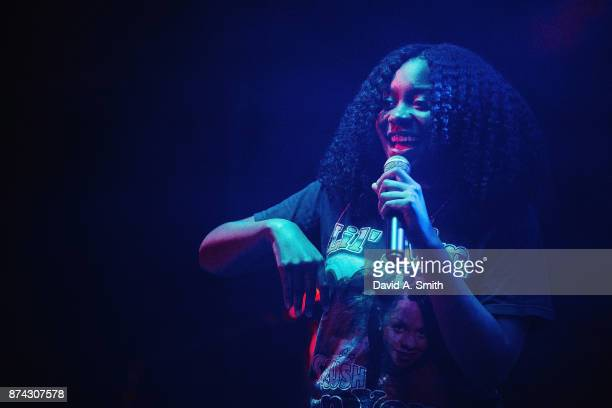 Fatimah Warner aka Noname performs at Saturn Birmingham on November 14 2017 in Birmingham Alabama