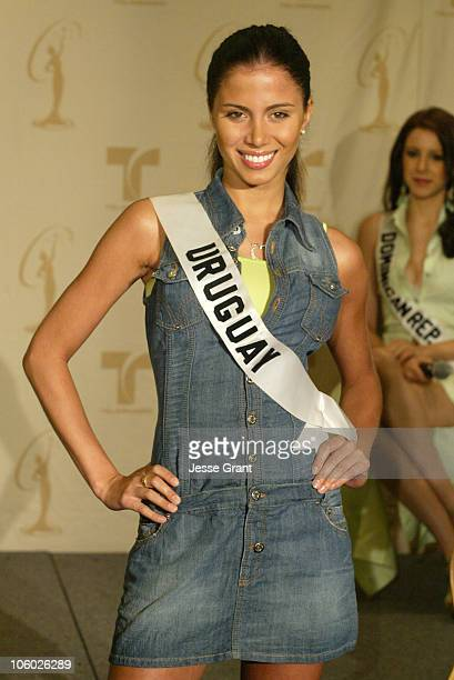 Fatimih Davila of Uruguay during Miss Universe 2006 Breakfast with the 18 Hispanic Candidates at Wilshire Grand Hotel in Los Angeles California...