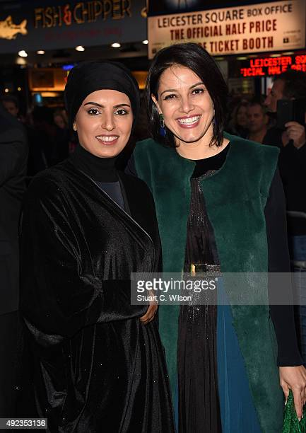 Fatma Al Remaihi and Amire Diab attend 'The Idol' Sonic Gala In Association With MOBO Film during the BFI London Film Festival at Vue Leicester...
