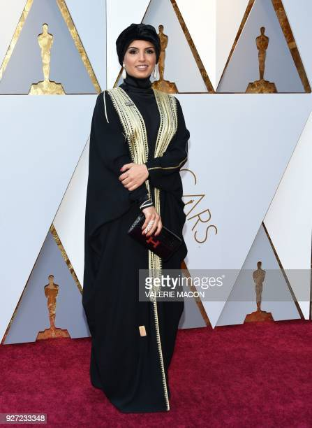 Fatma Al Remaihi arrives for the 90th Annual Academy Awards on March 4 in Hollywood California / AFP PHOTO / VALERIE MACON