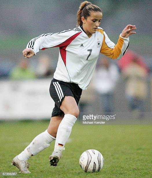 Fatmire Bajramaj of Germany during the Women's Under 19 international friendly match between Switzerland and Germany on April 13 2006 in Winterthur...