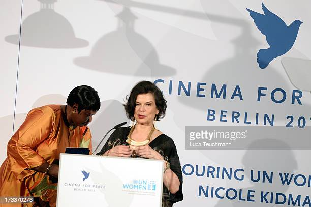 Fatou Bensouda and Bianca Jagger attend the Cinema for Peace UN women honorary dinner at Soho House on July 12 2013 in Berlin Germany