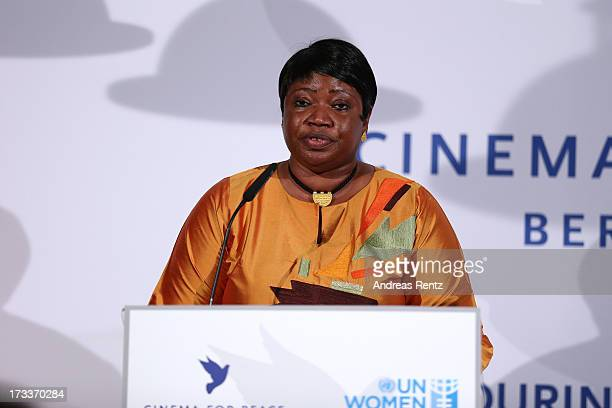 Fatou Bensouda attends the Cinema for Peace UN women honorary dinner at Soho House on July 12 2013 in Berlin Germany