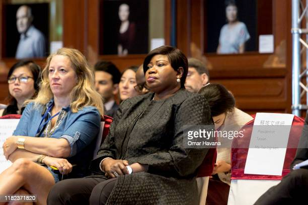 Fatou Bensouda Chief Prosecutor of the International Criminal Court listens to speeches during the opening ceremony of the congress of the...