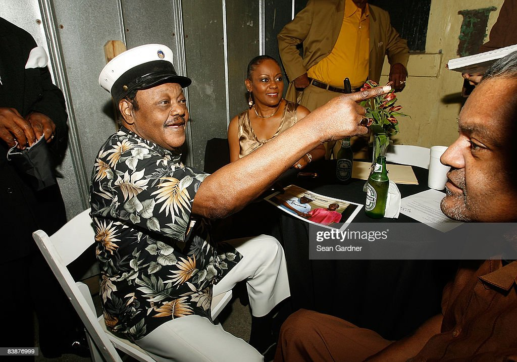 Fats Domino attends the Tipitina's Foundation premiere of 'Fats Domino: Walkin' Back to New Orleans' at Tipitina's Uptown on November 5, 2008 in New Orleans, Louisiana.