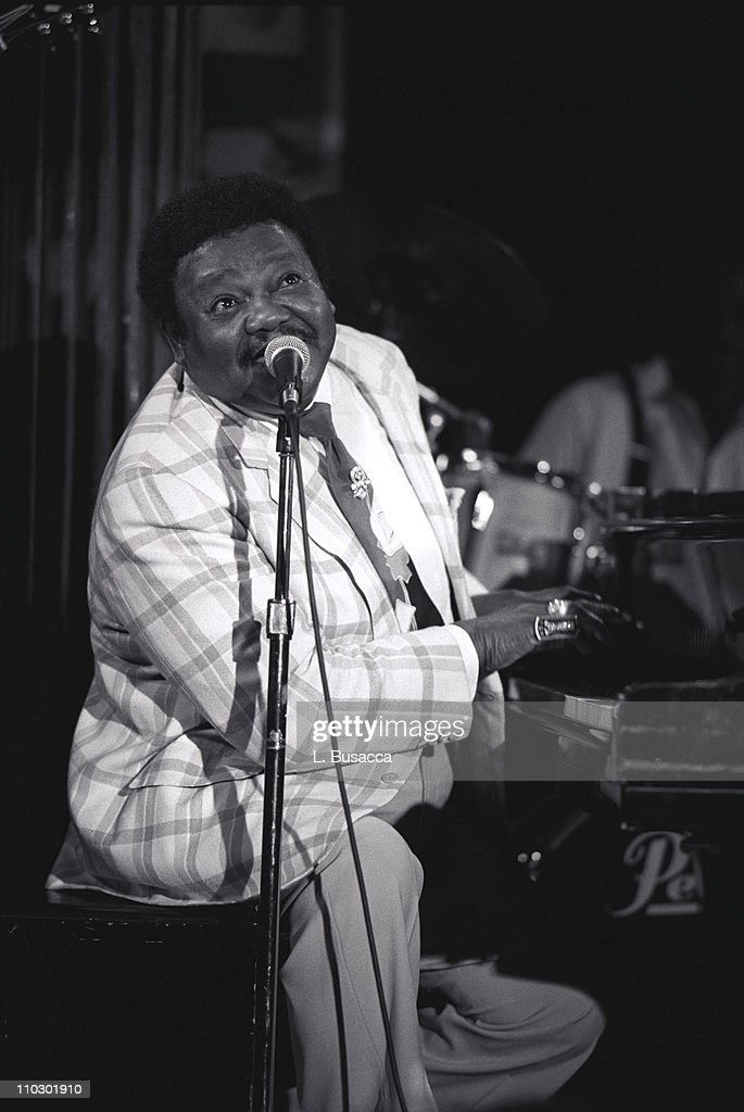 Fats Domino during Fats Domino Preforms at EMI Legends of Rock n' Roll Series in New York City, New York, United States.