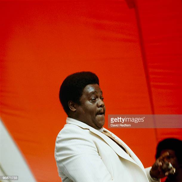 Fats Domino performs on stage at the New Orleans Jazz and Heritage Festival in New Orleans Louisiana on May 01 1982