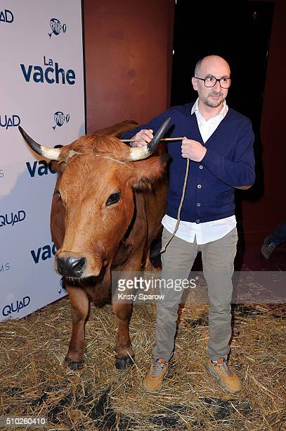 Fatsah Bouyahmed attends the La Vache Paris Premiere at Pathe Wepler on February 14 2016 in Paris France