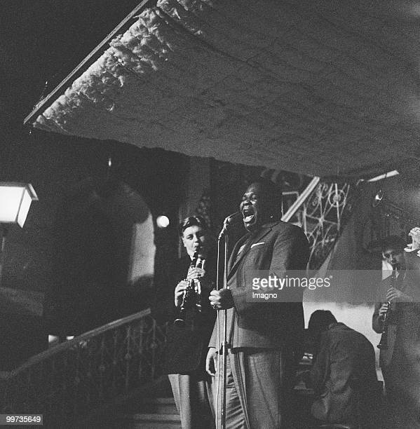 Fatty George and Al 'Fats' Edwards in Fatty George's music club 'Fattys Saloon' at the Petersplatz in Vienna Photograph 1958 Photo by Barbara Pflaum