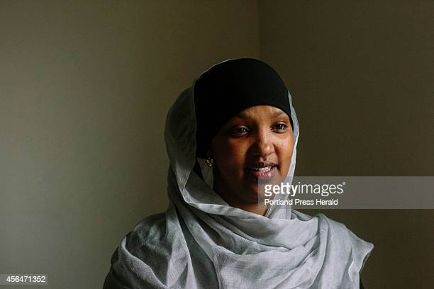 Fatume Hussein in the office of United Somali Women of Maine where she acts as an advocate for domestic issues within families of immigrant and...