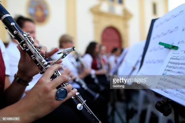 Faucigny music festival Brass band musicians Clarinet SaintGervais France