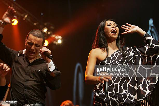 Faudel and Anggun during 'The 2006 Night of The Proms' at Nikaia in Nice France