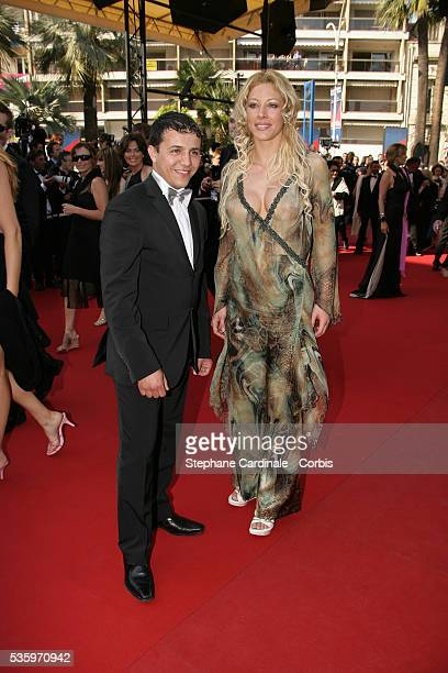 Faudel and Loana at the premiere of 'Three Burials of Melquiades Estrada' during the 58th Cannes Film Festival