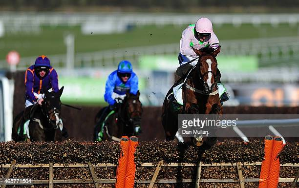 Faugheen ridden by Ruby Walsh clear the last and win The Stan James Champion Hurdle Challenge Trophy during Day One of the Cheltenham Festival at...