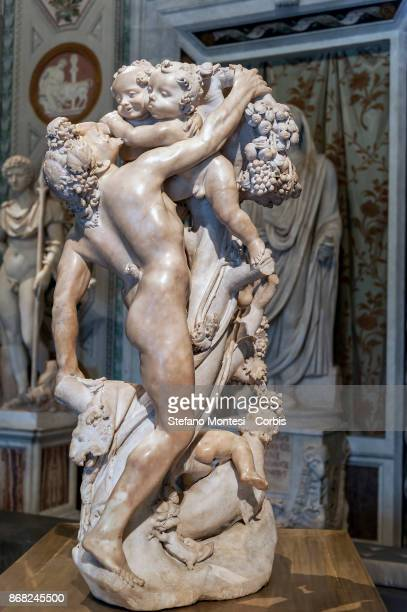 'Faun harassed by cupids ' of the artist Gian Lorenzo Bernini on October 30 2017 in Rome Italy On the occasion of the twentieth anniversary of the...