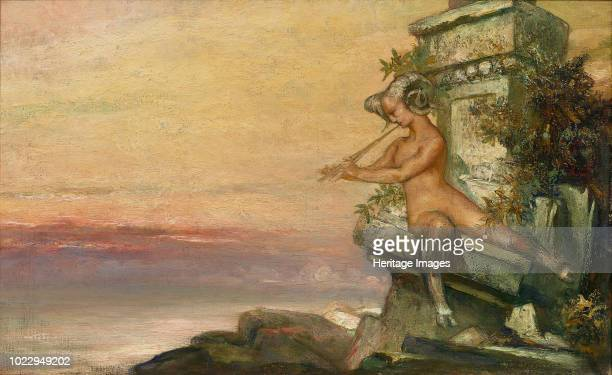 A faun playing the flute Private Collection