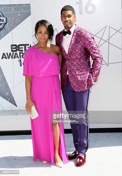 Faune A Chambers and Fonzworth Bentley attend the 2016 BET Awards at Microsoft Theater on June 26 2016 in Los Angeles California