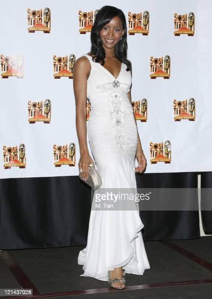 Faune A Chambers presenter during 21st Annual Soul Train Music Awards Press Room at Pasadena Civic Auditorium in Pasadena California United States