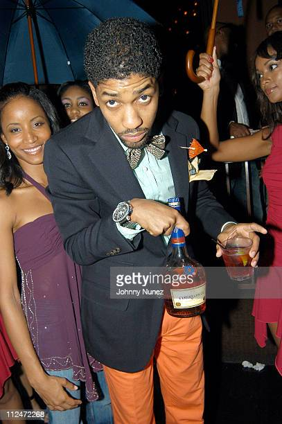 Faune Chambers and Fonzworth Bentley during Courvoisier's Gentleman's Tour Visits Los Angeles at Sunset Room in Los Angeles California United States