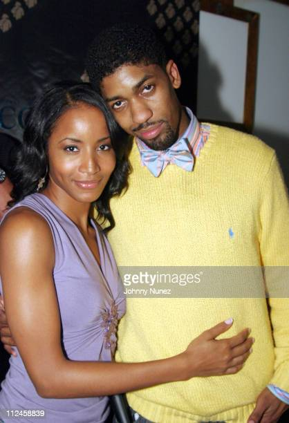 Faune Chambers and Fonzworth Bentley during Fonzworth Bentley Hosts Courvoisier VSOP Gentleman's Tour Party at Dekko in New York City New York United...