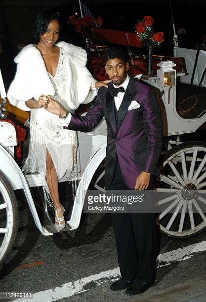 Faune Chambers and Fonzworth Bentley during Usher's 26th Birthday Party at Rainbow Room in New York City New York United States