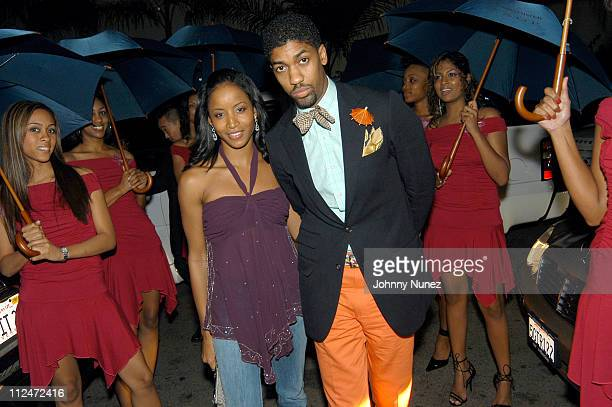 Faune Chambers and Fonzworth Bentley with Bentley Ladies