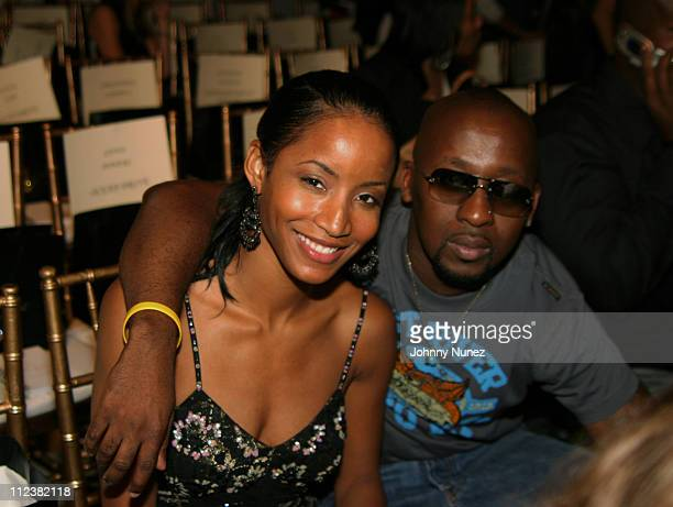 Faune Chambers and O'Neal during Olympus Fashion Week Spring 2005 Baby Phat Front Row at Skylight Studio in New York City New York United States