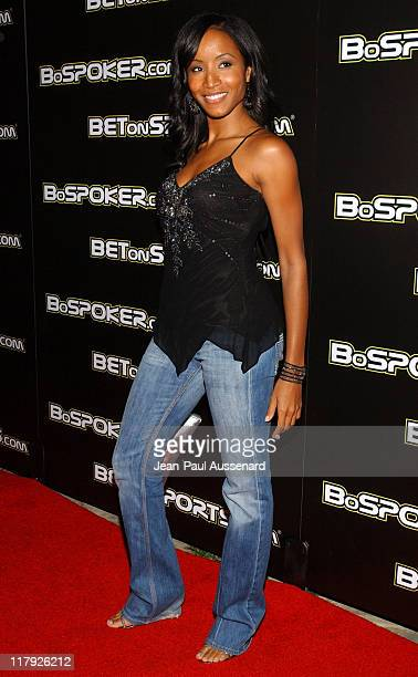 Faune Chambers during 2005 BosPokercom Celebrity Poker Tournament Arrivals at Private Residence in Beverly Hills California United States