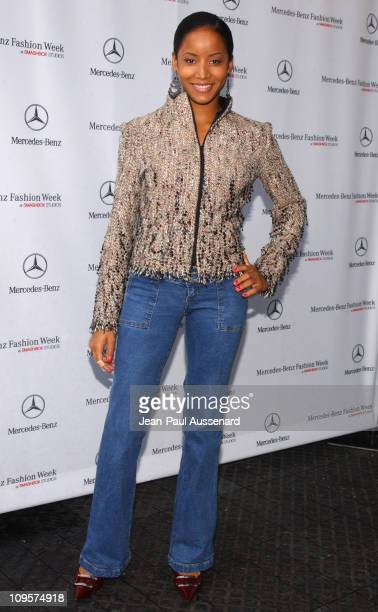 Faune Chambers during MercedesBenz Spring 2005 Fashion Week at Smashbox Studios Day 3 Arrivals at Smashbox Studios in Culver City California United...