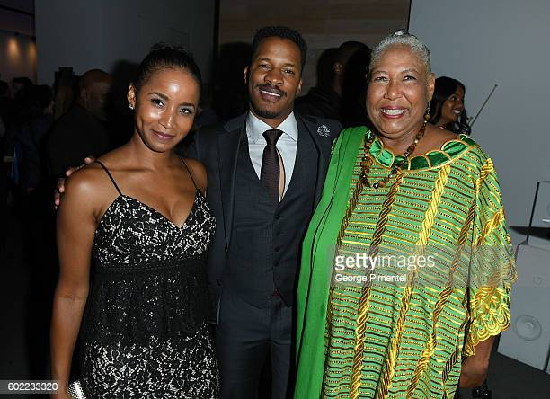 Faune Watkins Writer/Director/Actor Nate Parker and actress Esther Scott attend 'The Birth Of A Nation' Party during the 2016 Toronto International...