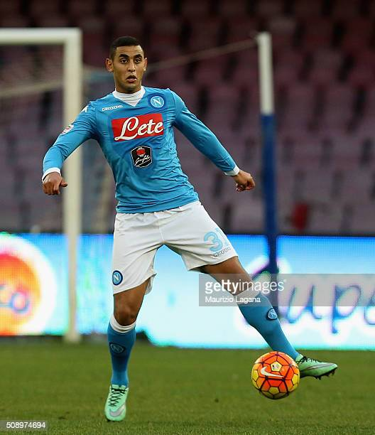 Fauozi Ghoulam of Napoli during the Serie A match between SSC Napoli and Carpi FC at Stadio San Paolo on February 7 2016 in Naples Italy