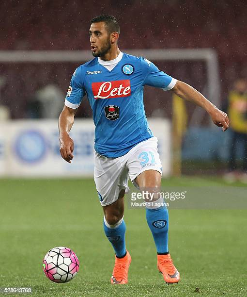 Fauozi Ghoulam of Napoli during the Serie A match between SSC Napoli and Atalanta BC at Stadio San Paolo on May 1 2016 in Naples Italy