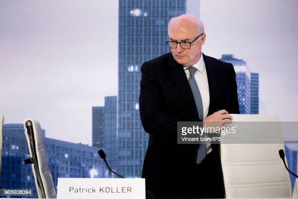 Faurecia CEO Patrick Koller attends the French auto parts maker Faurecia general shareholders meeting on May 30 2018 in Paris France At Faurecia's...