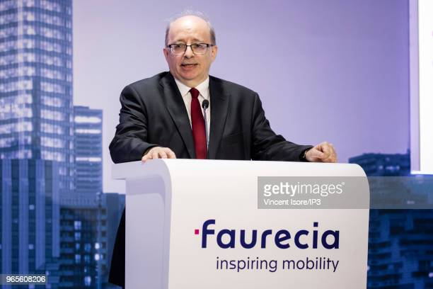 Faurecia CFO Michel Favre attends the French auto parts maker Faurecia general shareholders meeting on May 30 2018 in Paris France At Faurecia's...