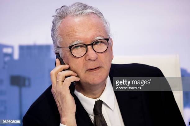 Faurecia chairman of the board Michel de Rosen attends the French auto parts maker Faurecia general shareholders meeting on May 30 2018 in Paris...