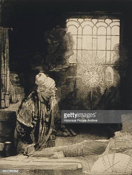 Faust in His Study by Rembrandt Harmensz van Rijn