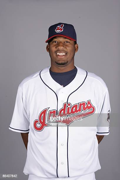 Fausto Carmona of the Cleveland Indians poses during Photo Day on Saturday February 21 2009 at Goodyear Ballpark in Goodyear Arizona