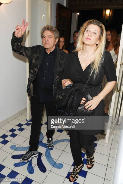 Fausto Leali and Germana Schena attend 2018 Ischia Global Film Music Fest on July 18 2018 in Ischia Italy