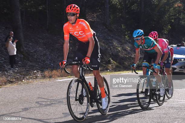 Fausto Masnada of Italy and CCC Team / Alex Aranburu of Spain and Team Astana Pro Team Green Best Young Rider Jersey / during the 5th Tour de La...