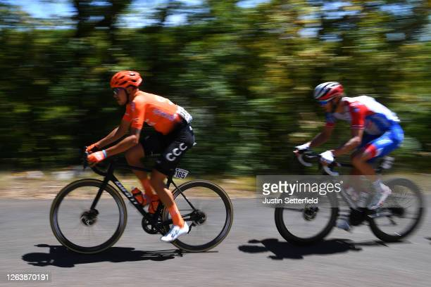 Fausto Masnada of Italy and CCC Team / Antoine Duchesne of Canada and Team Groupama - FDJ / Breakaway / during the 44th La Route d'Occitanie - La...