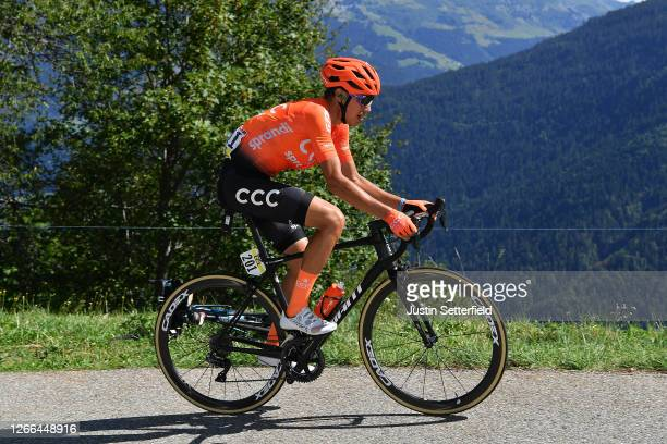 Fausto Masnada of Italy and CCC Team / during the 72nd Criterium du Dauphine 2020, Stage 4 a 153,3km stage from Ugine to Megeve 1458m / @dauphine /...